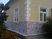 Отделка фасада камнем облицовка цоколя и стен камнем